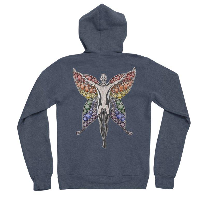 Enchanted Pride Fairy Men's Zip-Up Hoody by Genius Design Lab's Artist Shop