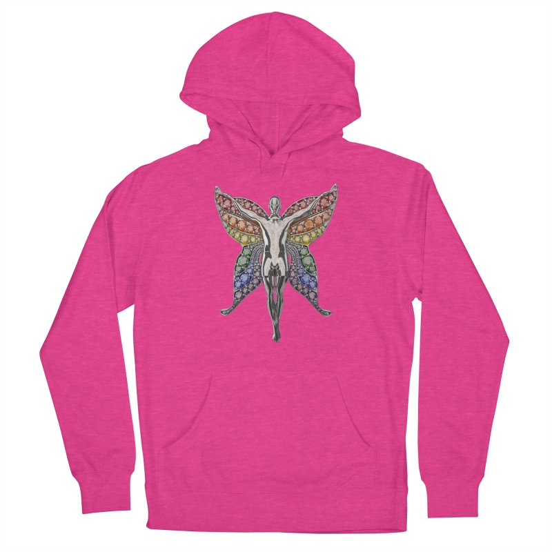Enchanted Pride Fairy Men's French Terry Pullover Hoody by Genius Design Lab's Artist Shop