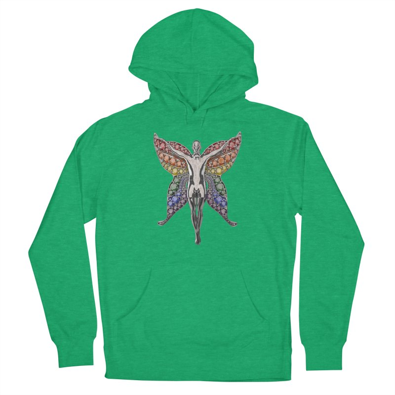 Enchanted Pride Fairy Women's French Terry Pullover Hoody by Genius Design Lab's Artist Shop
