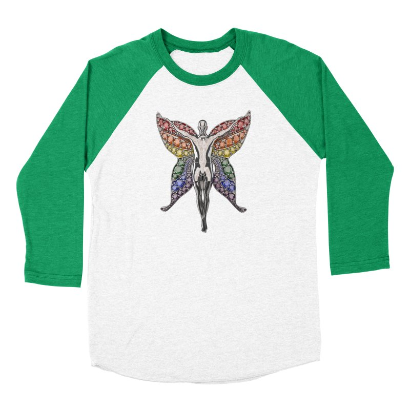 Enchanted Pride Fairy Men's Baseball Triblend Longsleeve T-Shirt by Genius Design Lab's Artist Shop