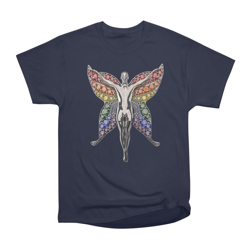 Enchanted Pride Fairy Men's Heavyweight T-Shirt by Genius Design Lab's Artist Shop