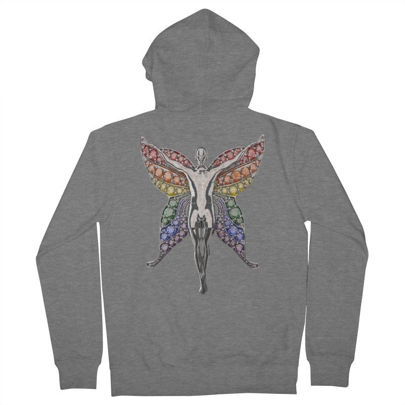Enchanted Pride Fairy Women's Zip-Up Hoody by Genius Design Lab's Artist Shop