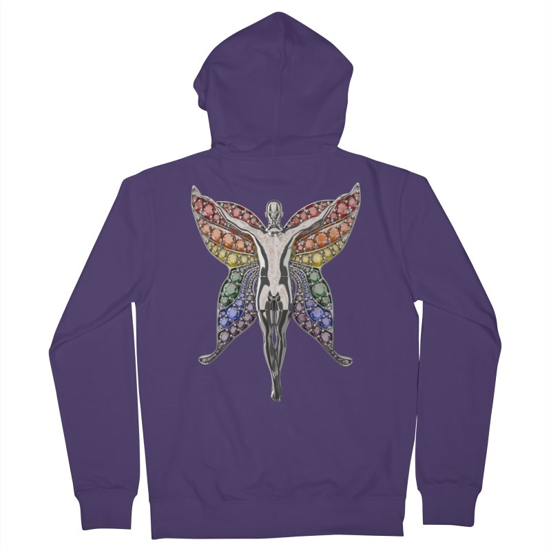 Enchanted Pride Fairy Women's French Terry Zip-Up Hoody by Genius Design Lab's Artist Shop