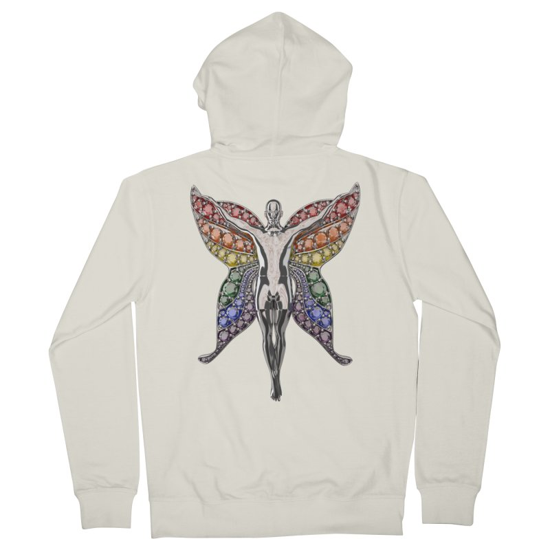 Enchanted Pride Fairy Men's French Terry Zip-Up Hoody by Genius Design Lab's Artist Shop