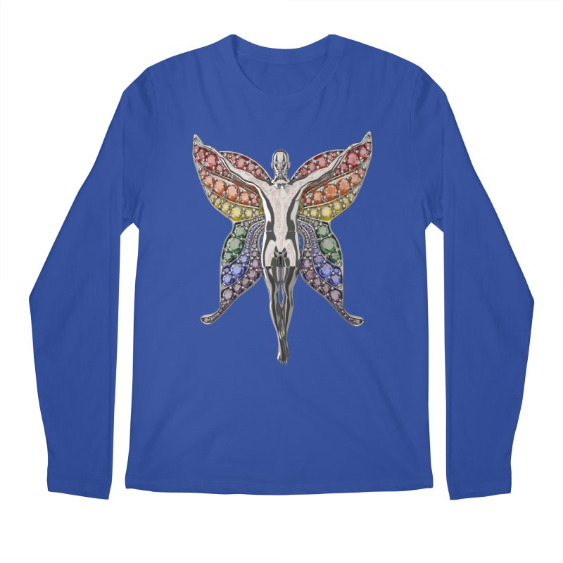Enchanted Pride Fairy Men's Regular Longsleeve T-Shirt by Genius Design Lab's Artist Shop