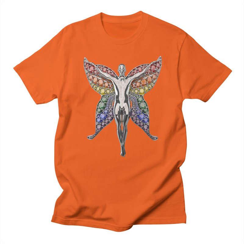 Enchanted Pride Fairy Men's Regular T-Shirt by Genius Design Lab's Artist Shop