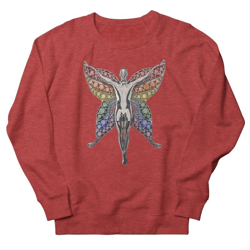Enchanted Pride Fairy Men's French Terry Sweatshirt by Genius Design Lab's Artist Shop