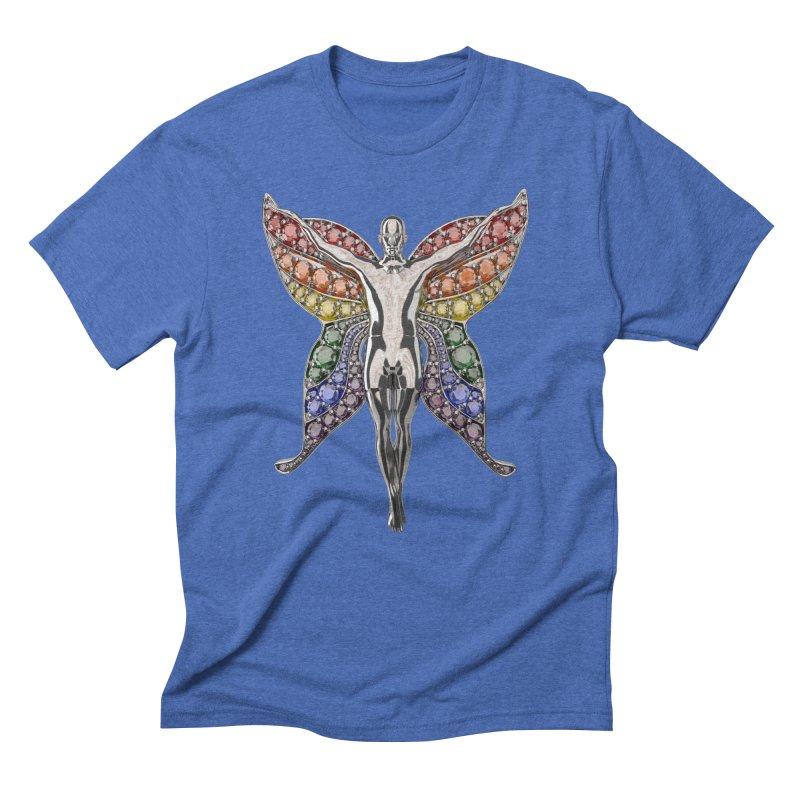 Enchanted Pride Fairy Men's Triblend T-Shirt by Genius Design Lab's Artist Shop