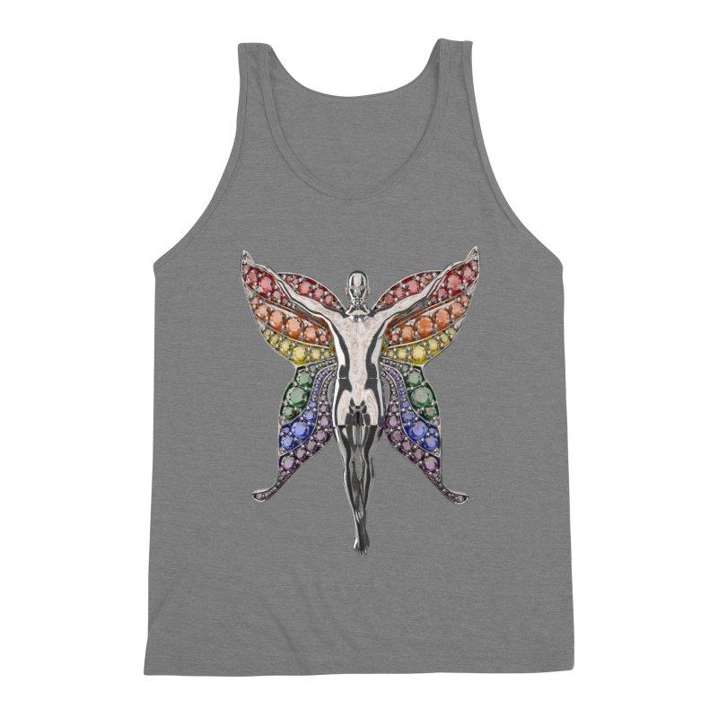 Enchanted Pride Fairy Men's Triblend Tank by Genius Design Lab's Artist Shop