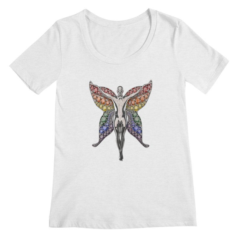 Enchanted Pride Fairy Women's Scoop Neck by Genius Design Lab's Artist Shop