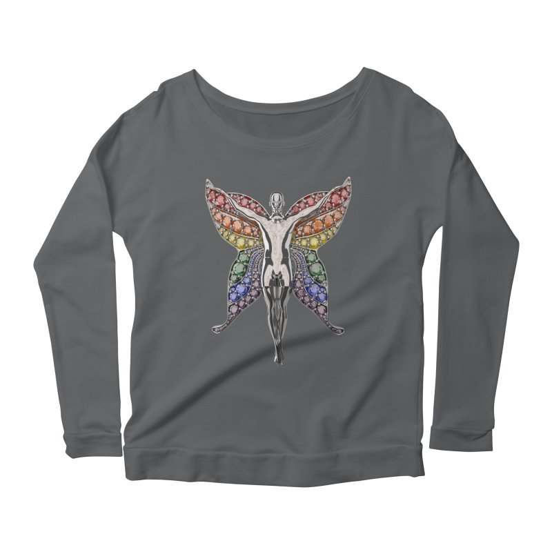 Enchanted Pride Fairy Women's Scoop Neck Longsleeve T-Shirt by Genius Design Lab's Artist Shop