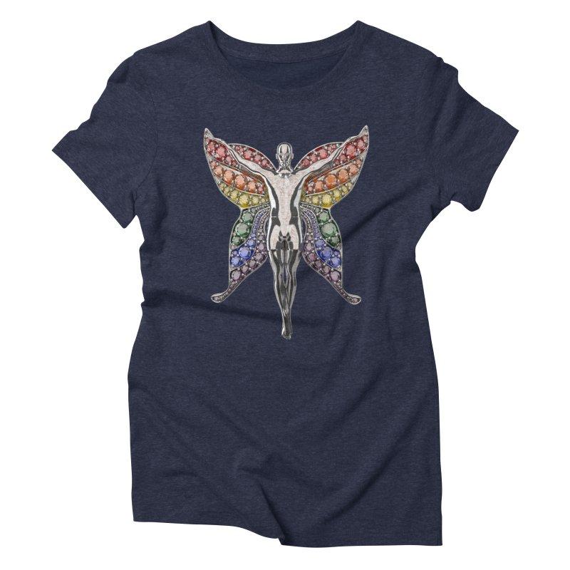 Enchanted Pride Fairy Women's Triblend T-Shirt by Genius Design Lab's Artist Shop