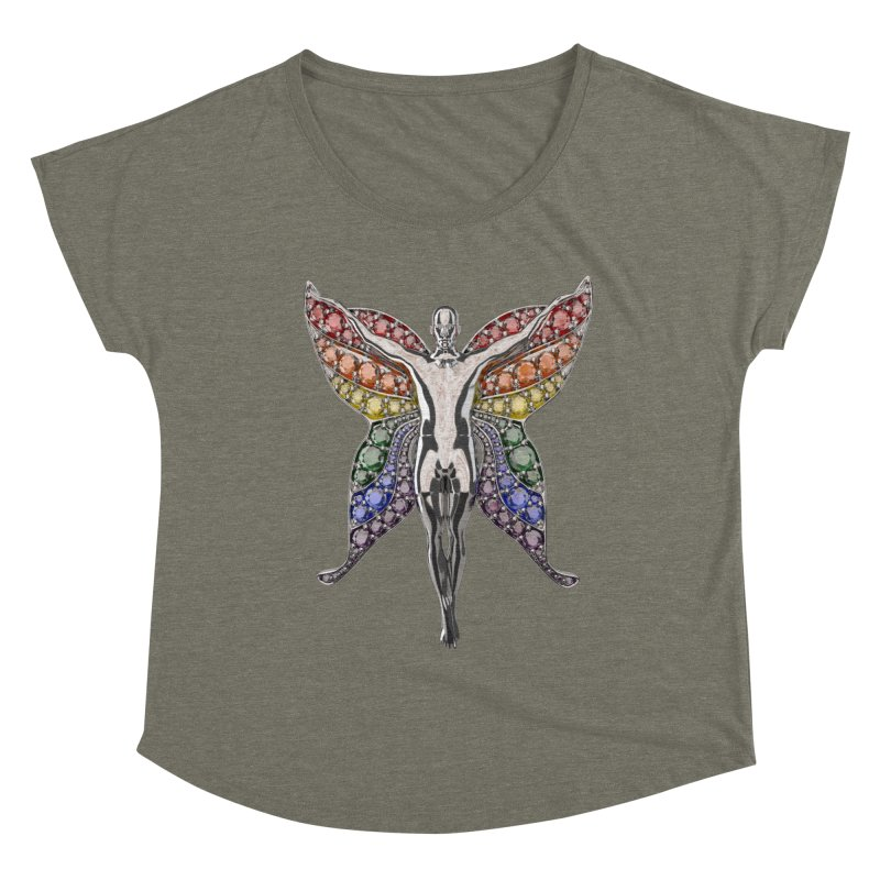 Enchanted Pride Fairy Women's Scoop Neck by Genius Design Lab's Artist Shop