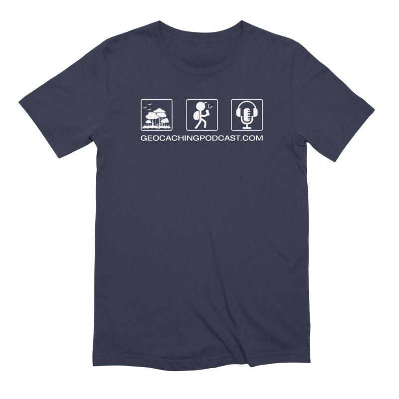 3 Panel Icons Men's Extra Soft T-Shirt by Geocaching Podcast Shop