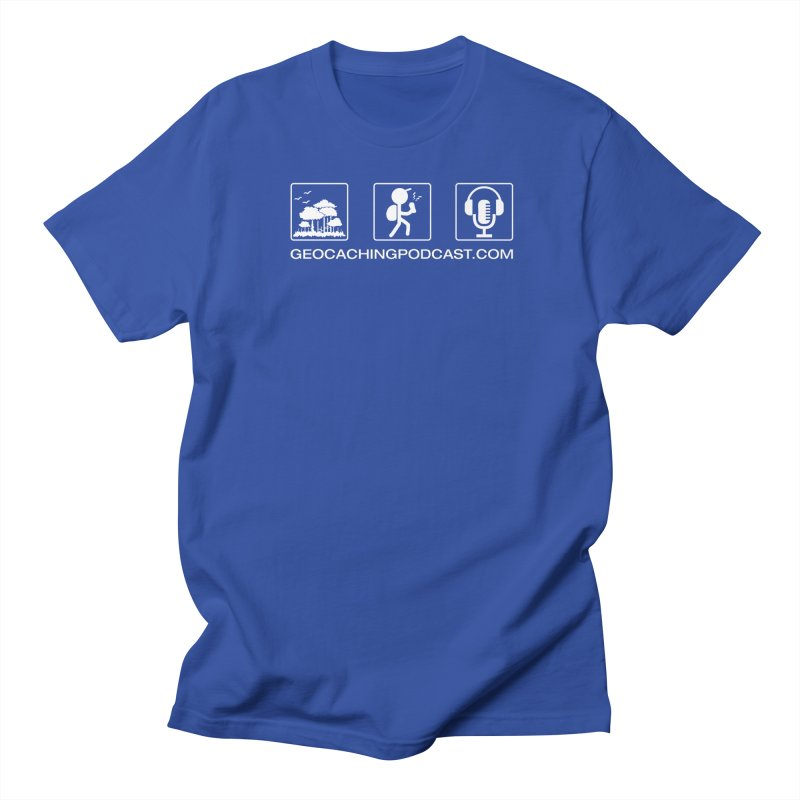 3 Panel Icons in Men's Regular T-Shirt Royal Blue by Geocaching Podcast Shop