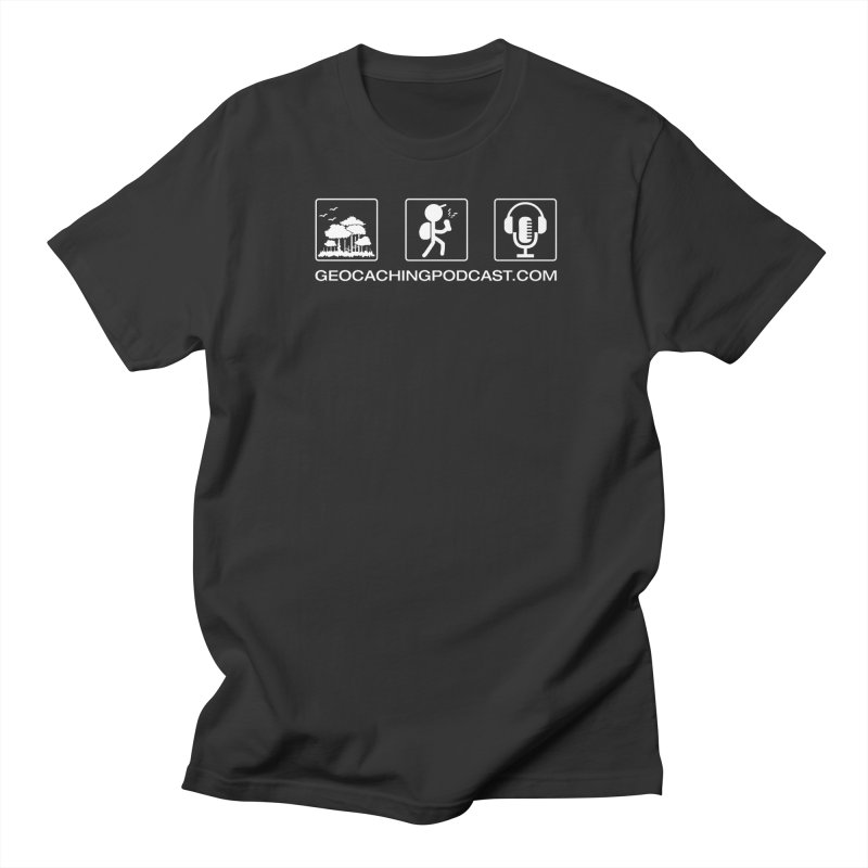 3 Panel Icons Men's Regular T-Shirt by Geocaching Podcast Shop