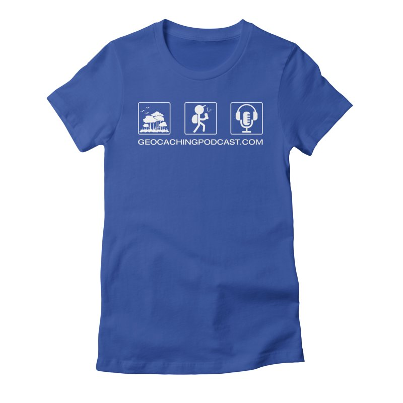 3 Panel Icons Women's Fitted T-Shirt by Geocaching Podcast Shop
