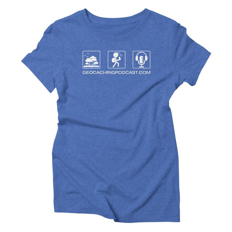 3 Panel Icons Women's Triblend T-Shirt by Geocaching Podcast Shop