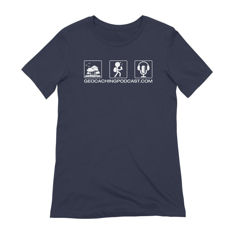3 Panel Icons Women's T-Shirt by Geocaching Podcast Store