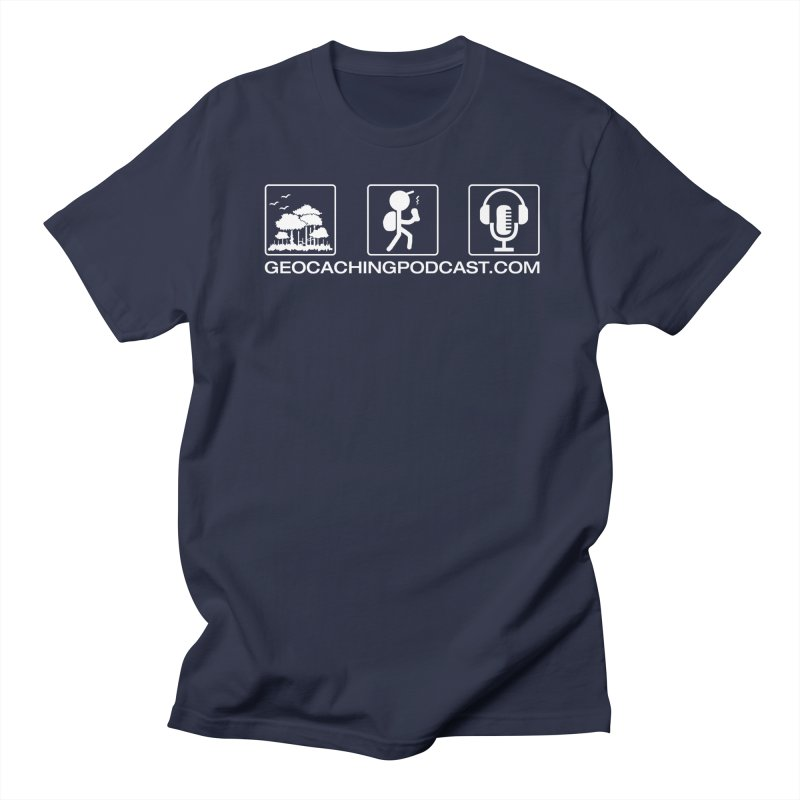 3 Panel Icons Men's Regular T-Shirt by Geocaching Podcast Store