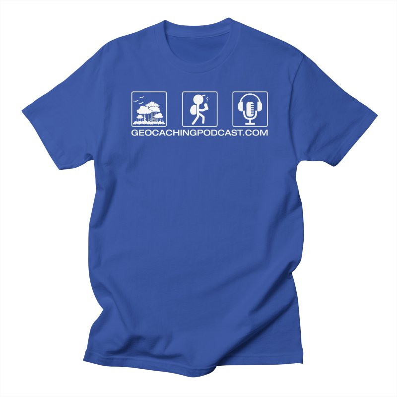 3 Panel Icons Men's T-Shirt by Geocaching Podcast Store