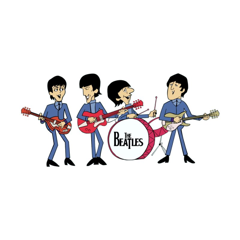 the Cartoon Beatles Men's T-Shirt by Geocaching Podcast Store