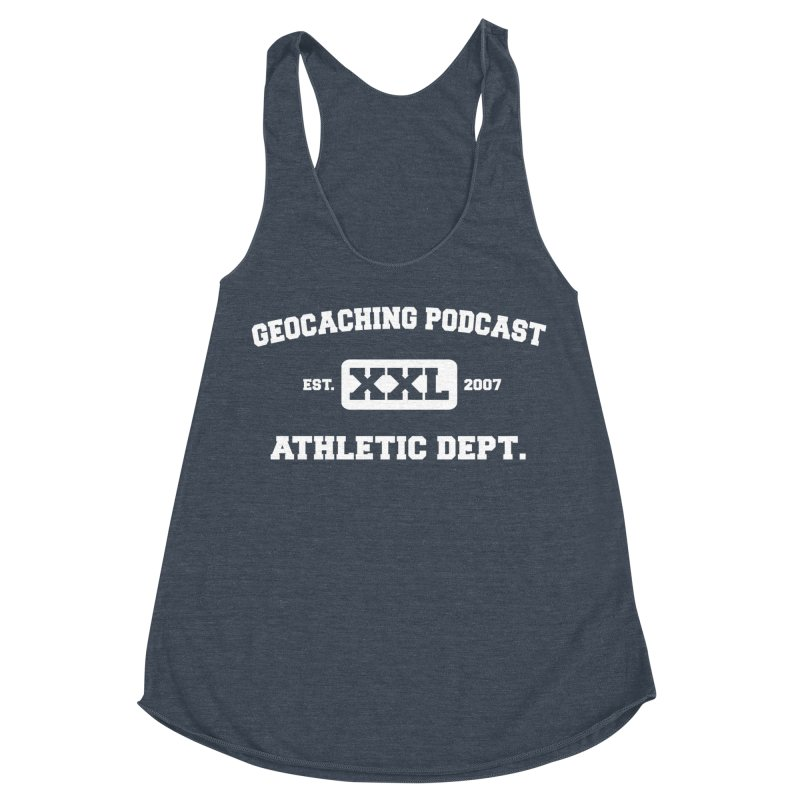 Athletic Department Women's Racerback Triblend Tank by Geocaching Podcast Store