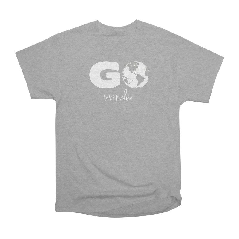 Go Wander Men's Heavyweight T-Shirt by Geocaching Podcast Store
