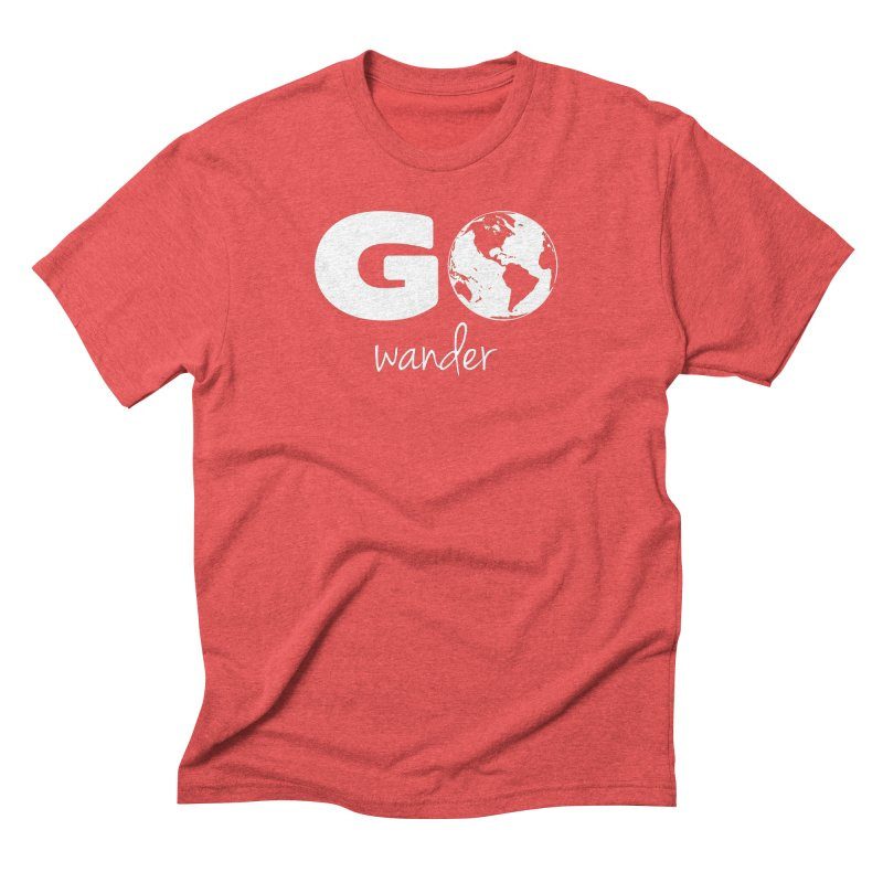 Go Wander Men's Triblend T-Shirt by Geocaching Podcast Store