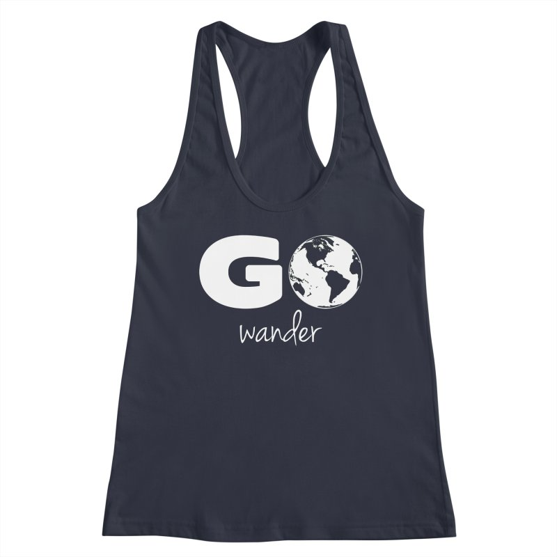 Go Wander Women's Tank by Geocaching Podcast Store