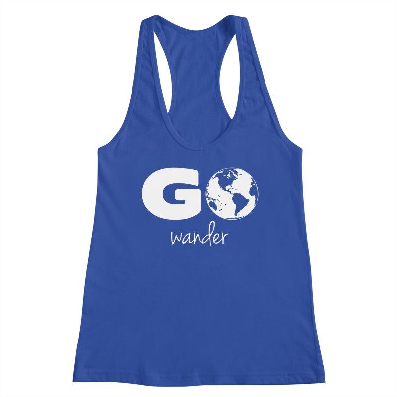 Go Wander Women's Tank by Geocaching Podcast Store