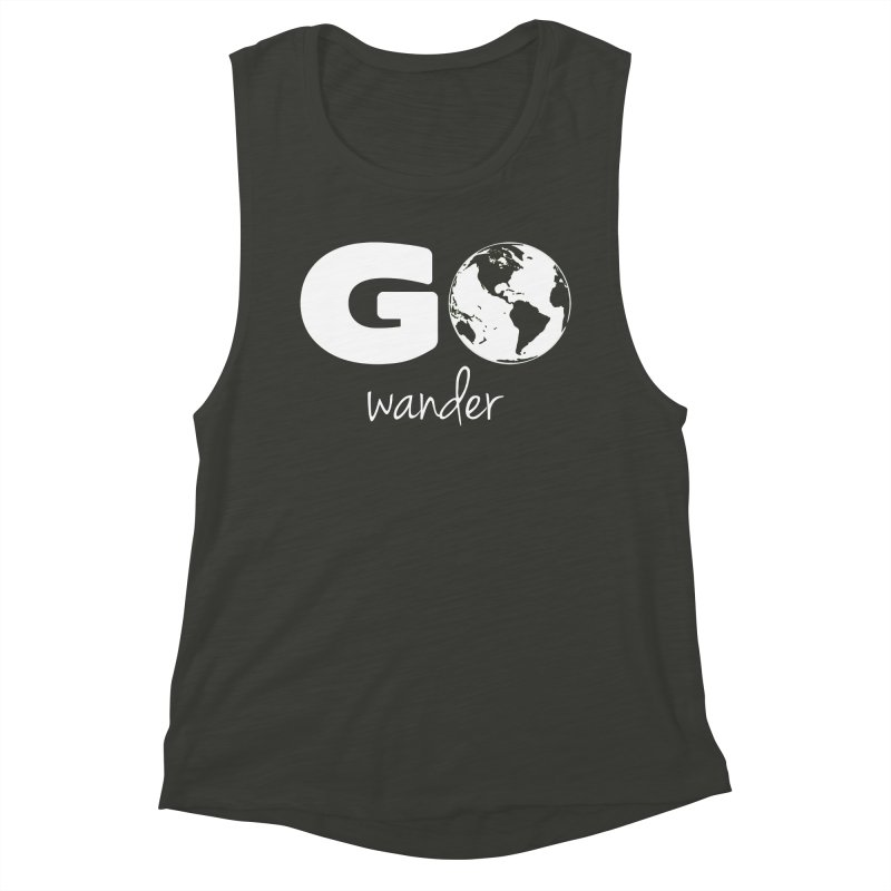 Go Wander Women's Muscle Tank by Geocaching Podcast Store
