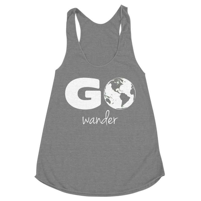 Go Wander Women's Racerback Triblend Tank by Geocaching Podcast Store