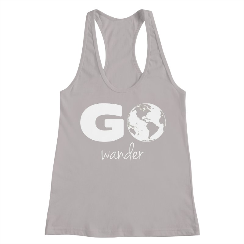 Go Wander Women's Racerback Tank by Geocaching Podcast Store