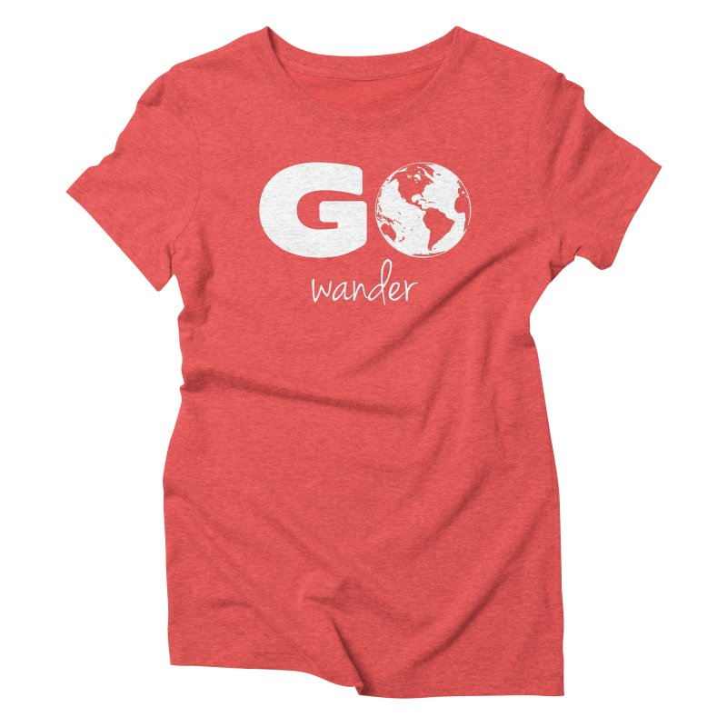 Go Wander Women's Triblend T-Shirt by Geocaching Podcast Store
