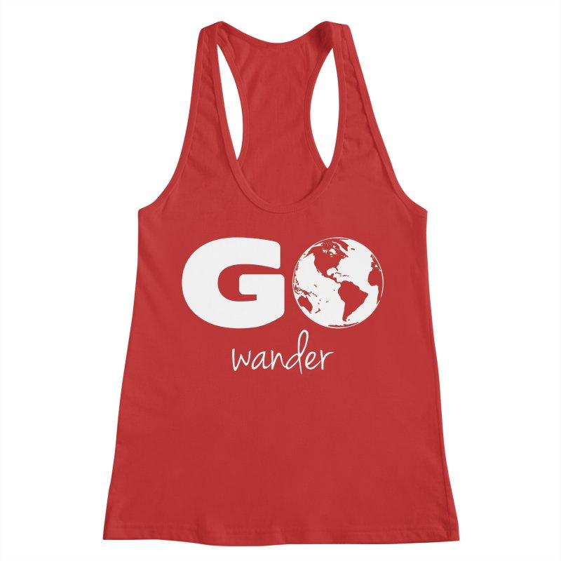 Go Wander Women's Racerback Tank by Geocaching Podcast Store