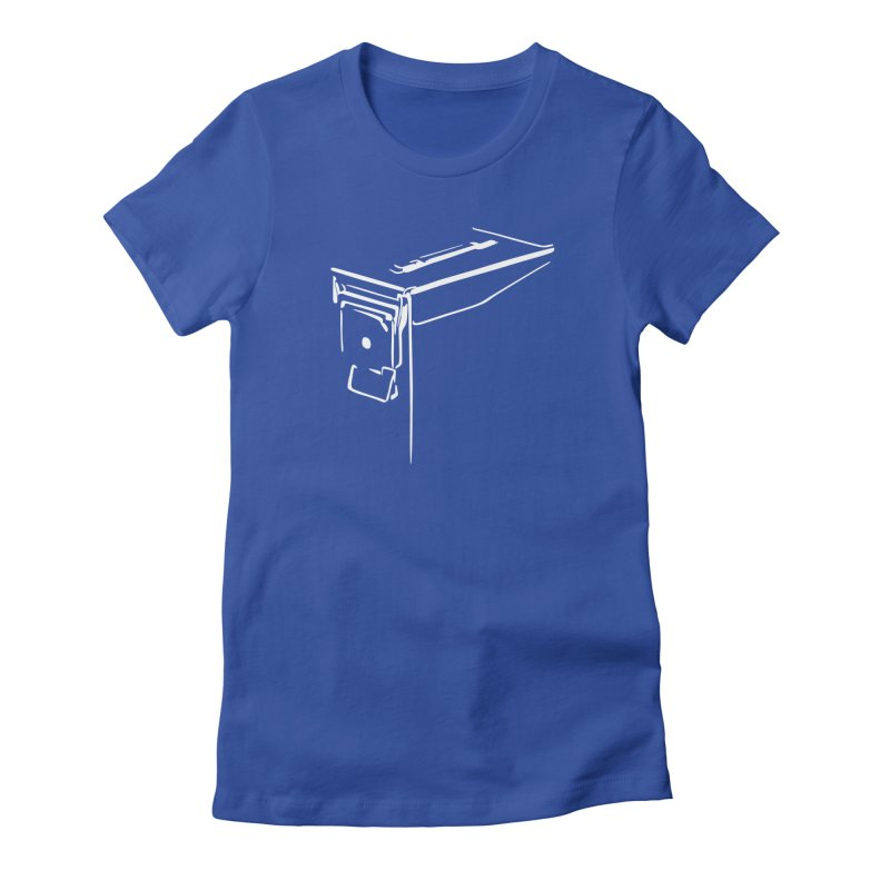 Ammo Can Silo Women's Fitted T-Shirt by Geocaching Podcast Store