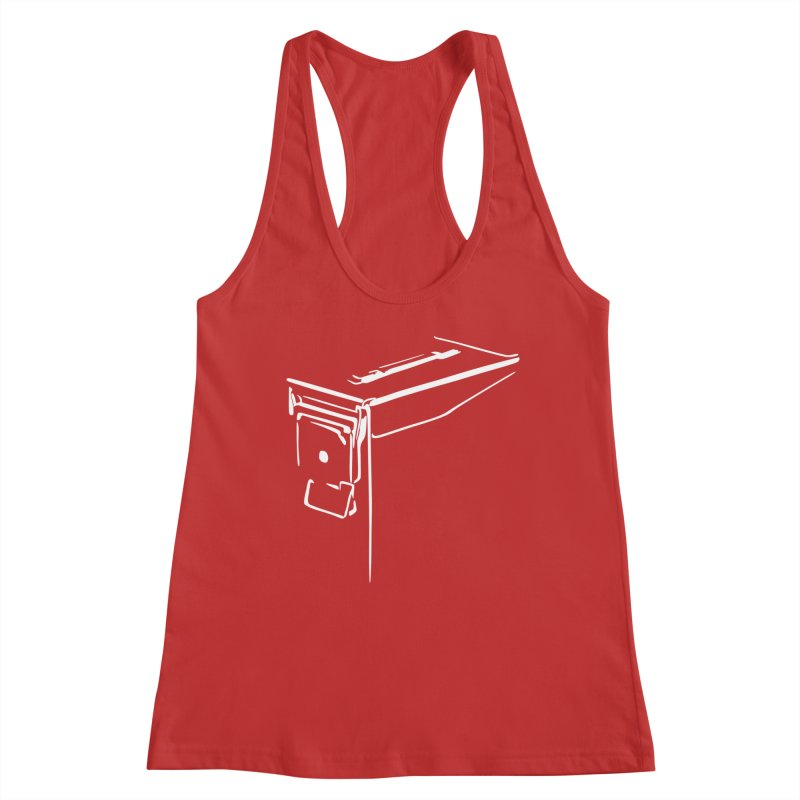 Ammo Can Silo Women's Racerback Tank by Geocaching Podcast Store