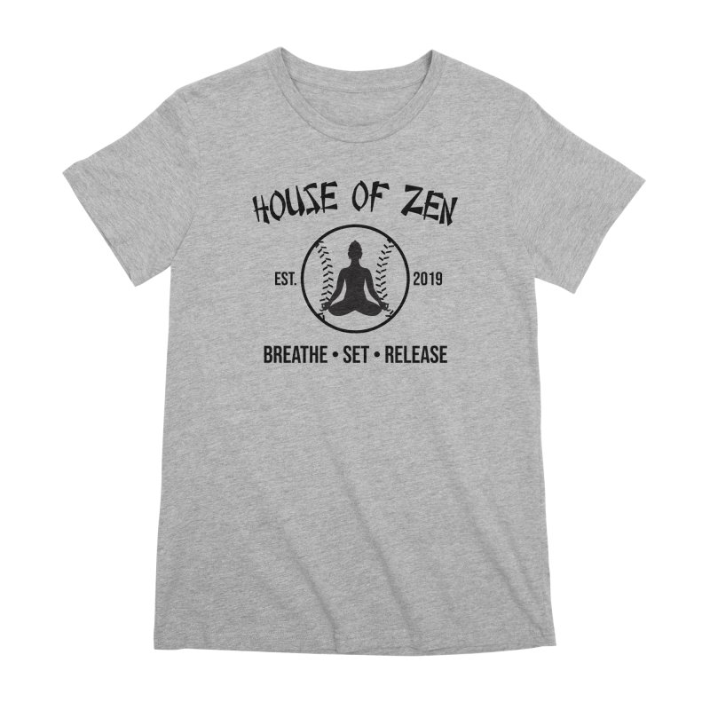 House of Zen baseball Women's Premium T-Shirt by Geocaching Podcast Store