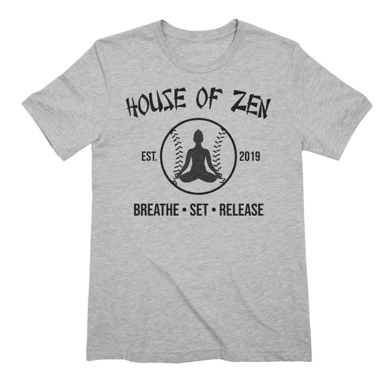 House of Zen baseball Men's Extra Soft T-Shirt by Geocaching Podcast Store