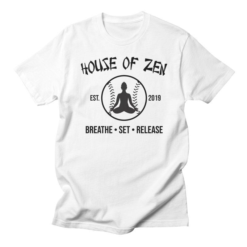 House of Zen baseball Men's Regular T-Shirt by Geocaching Podcast Store