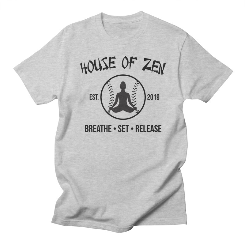 House of Zen baseball Women's Regular Unisex T-Shirt by Geocaching Podcast Store