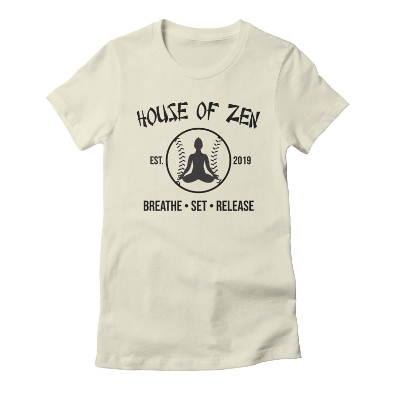 House of Zen baseball Women's Fitted T-Shirt by Geocaching Podcast Store