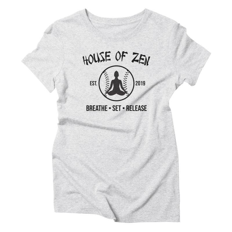 House of Zen baseball Women's Triblend T-Shirt by Geocaching Podcast Store
