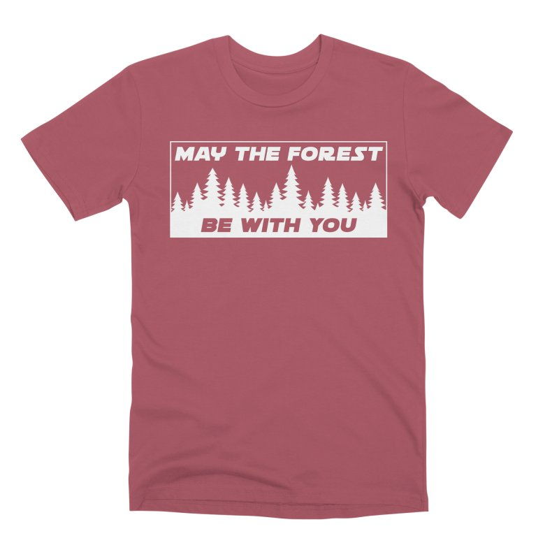 May the Forest Be With You Men's Premium T-Shirt by Geocaching Podcast Store