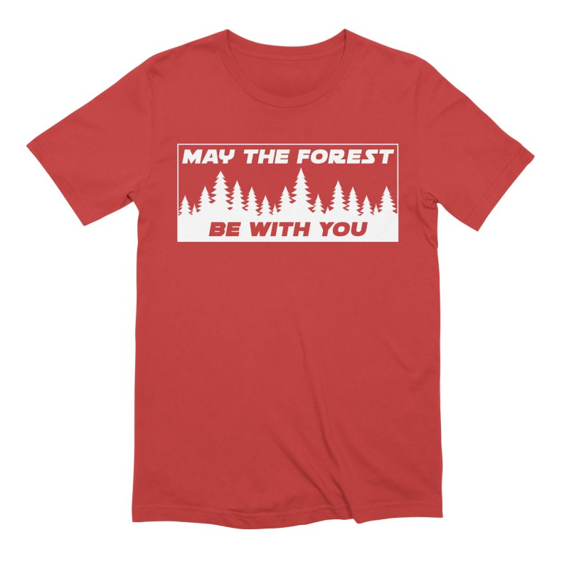 May the Forest Be With You Men's Extra Soft T-Shirt by Geocaching Podcast Store