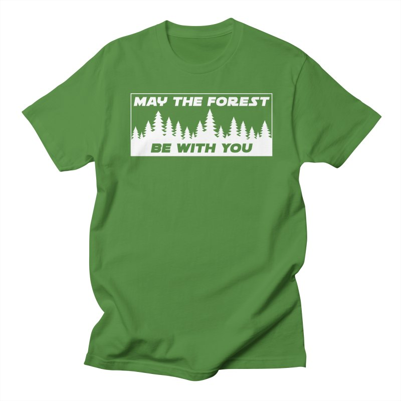 May the Forest Be With You Women's Regular Unisex T-Shirt by Geocaching Podcast Store