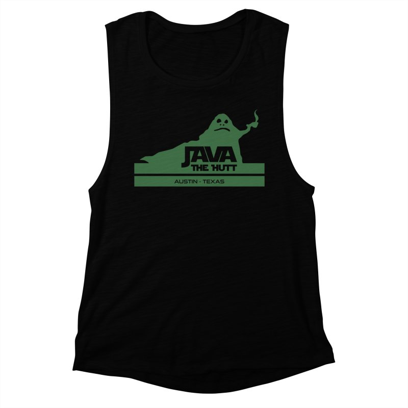 Java the Hutt Coffee House Women's Muscle Tank by Geocaching Podcast Store