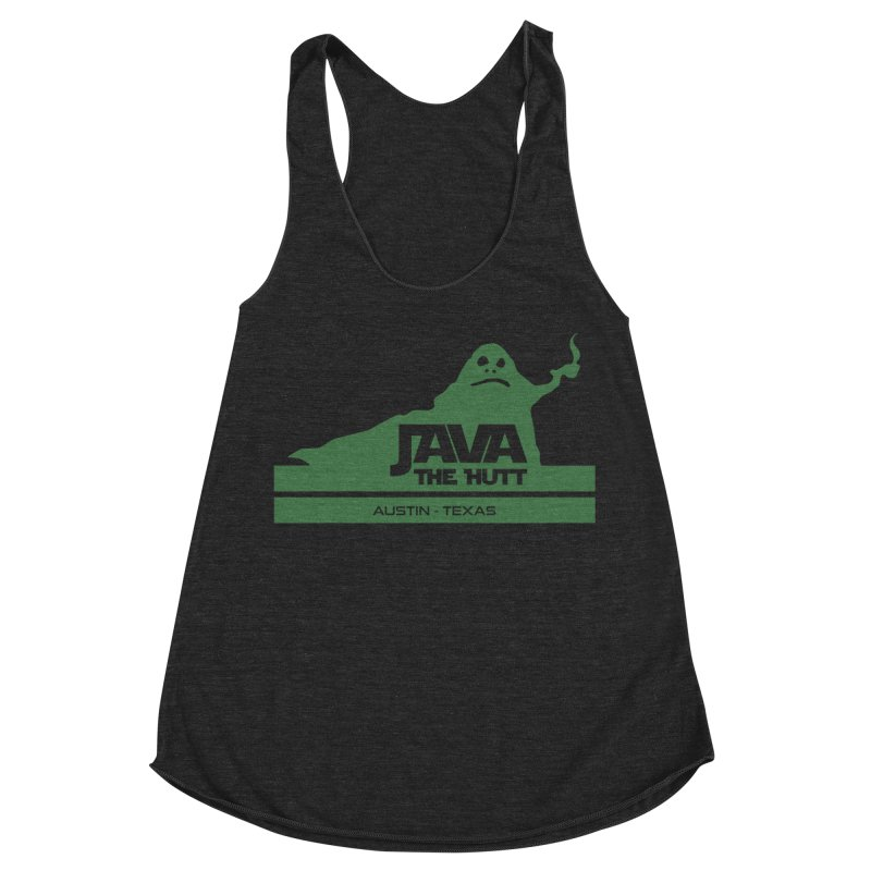 Java the Hutt Coffee House Women's Racerback Triblend Tank by Geocaching Podcast Store