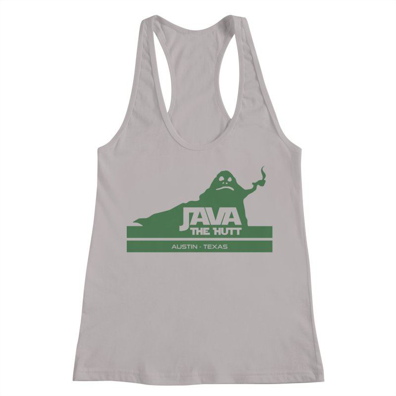 Java the Hutt Coffee House Women's Racerback Tank by Geocaching Podcast Store